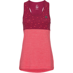 Triple2 Deel Merino Tencel Top Sin Mangas Mujer, beet red